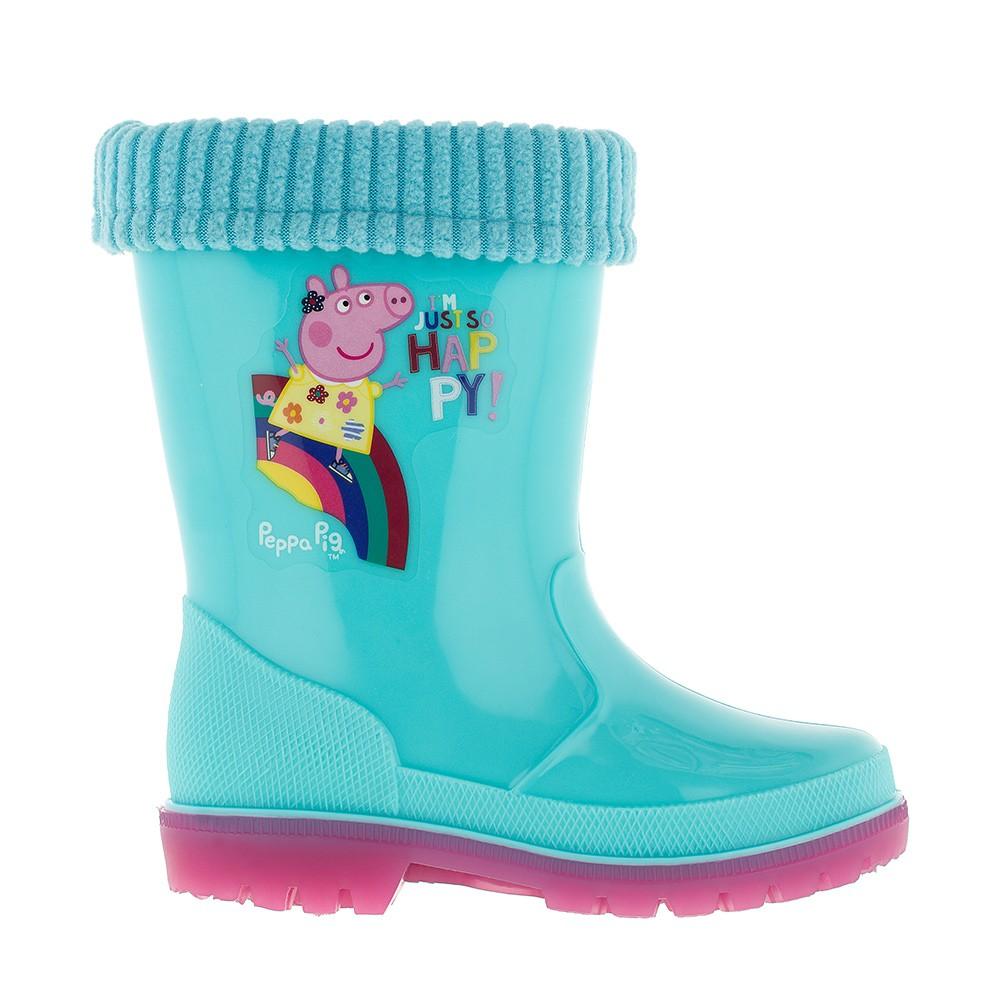 """Резиновые утепленные сапожки """"Peppa Pig"""", 7185C"""